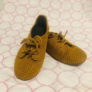 Yellow mustard Old Navy toddler shoes